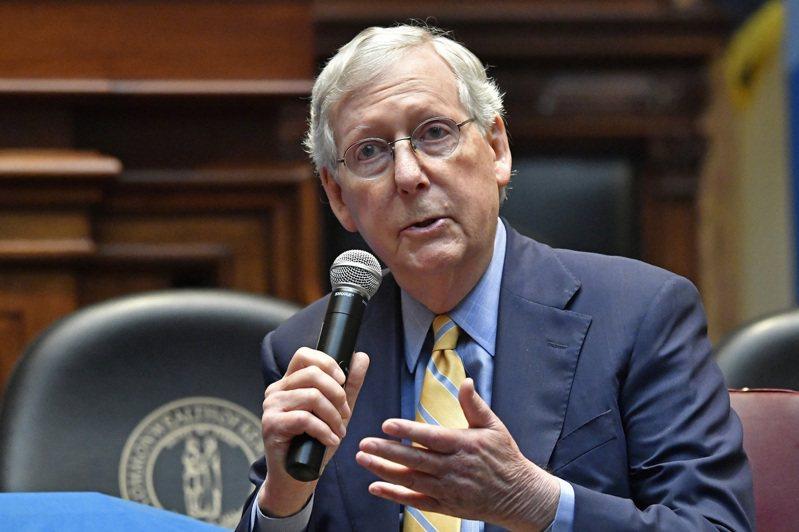 美国参议院多数党领袖麦康诺(Mitch McConnell)。(美联社)(photo:UDN)