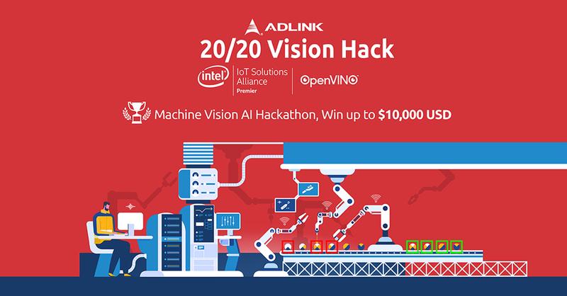 工業電腦大廠凌華今(21)日宣布與英特爾(Intel)合作,發起 20/20 Vision Hack。 圖/凌華提供