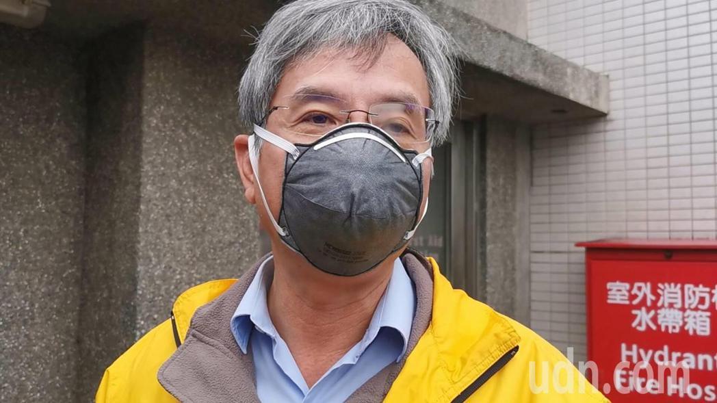 旭富製藥董事長翁維駿(見圖)再度進廠勘查,他表示,現在工廠停工。記者曾增勳/攝影