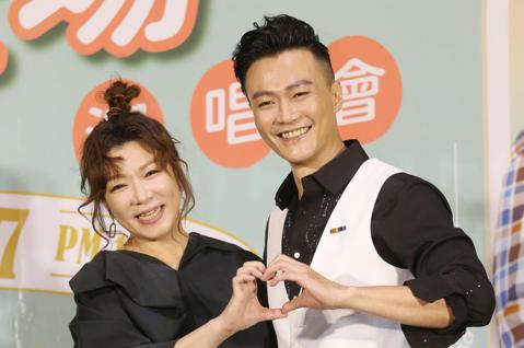 趙詠華、林俊逸「華逸登場」演唱會今天舉行售票記者會,兩人合唱一首最浪漫的事,展現好默契。