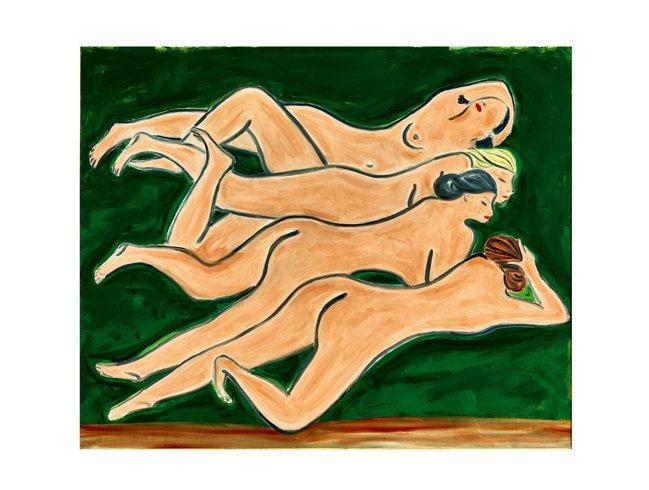 蘇富比香港春拍,常玉「綠色背景四裸女」由4位藏家歷時10分鐘競標後以2億58,3...