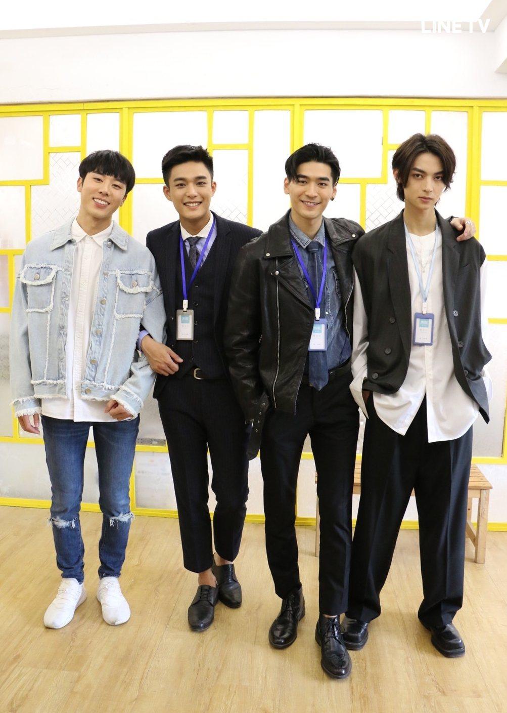 林嘉威(左起)、安俊朋、涂善存、陳立安演出「HIStory4近距離愛上你」。圖/...
