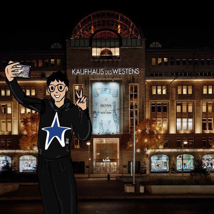 藝術家Justin Teodoro更親自繪製了自己與柏林KaDeWe百貨櫥窗的可...