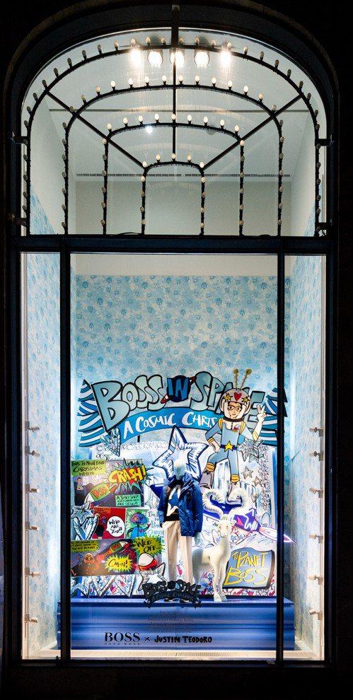 漢堡Alsterhaus百貨2020耶誕櫥窗裝置由BOSS與Justin Teo...