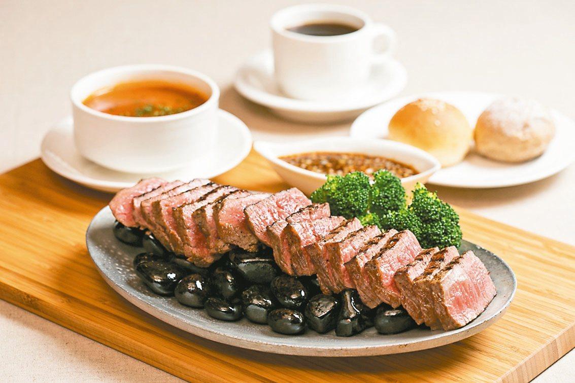 啾啾牛排是ahmicafe餐廳30餘年歷久不衰的經典料理。 圖/台北國賓飯店提供
