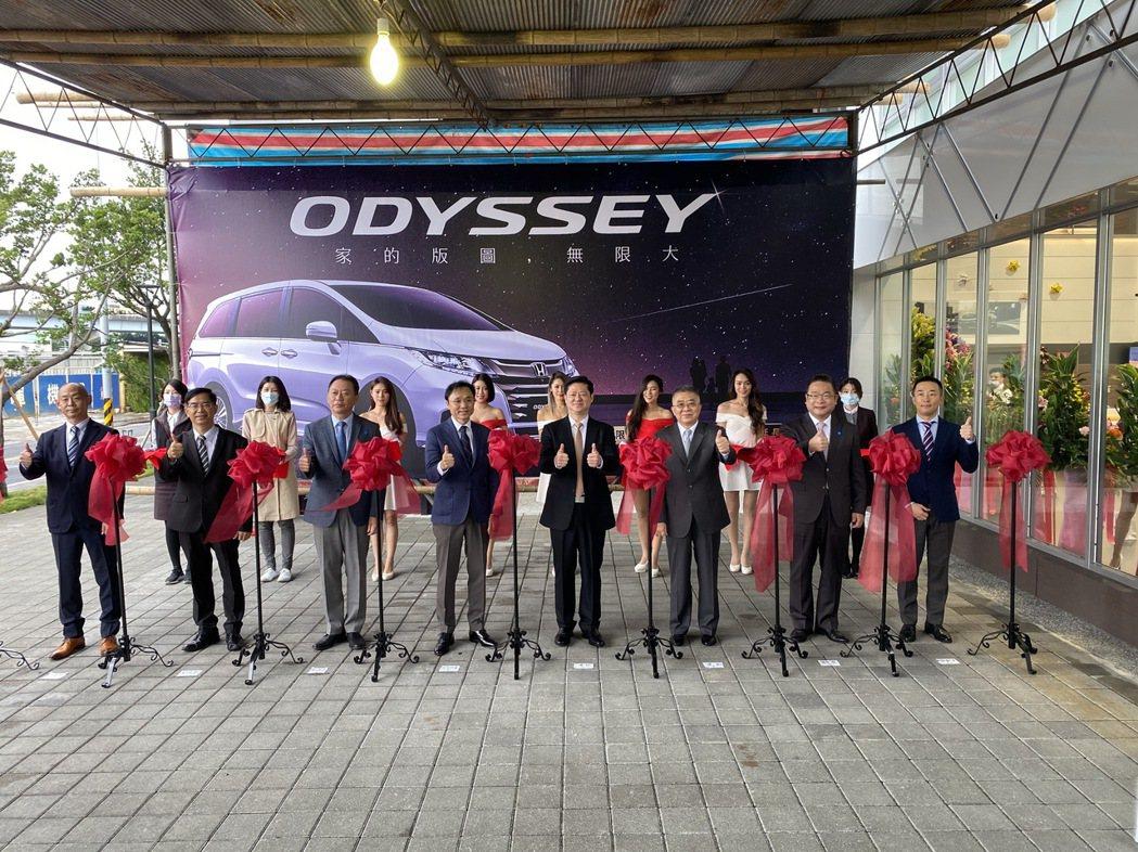 Honda Cars三重擴大開幕剪綵。 圖/Honda Taiwan提供
