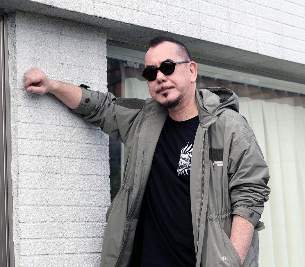 非常喜歡台灣的演員黃秋生來台工作,今天接受媒體聯訪。記者邱德祥/攝影