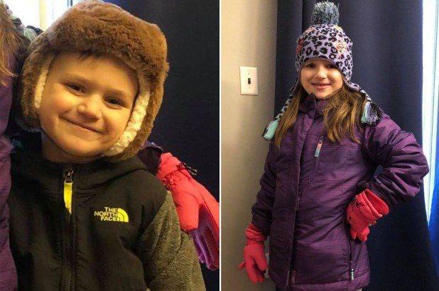 美國8歲女童和4歲弟弟生平第一次坐雪橇就意外掉進結冰池塘。圖/取自nypost