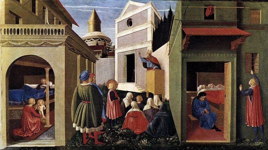 Fra Angelico,《聖尼古拉的故事》,1437年,典藏於梵蒂岡博物館。 圖/維基共享