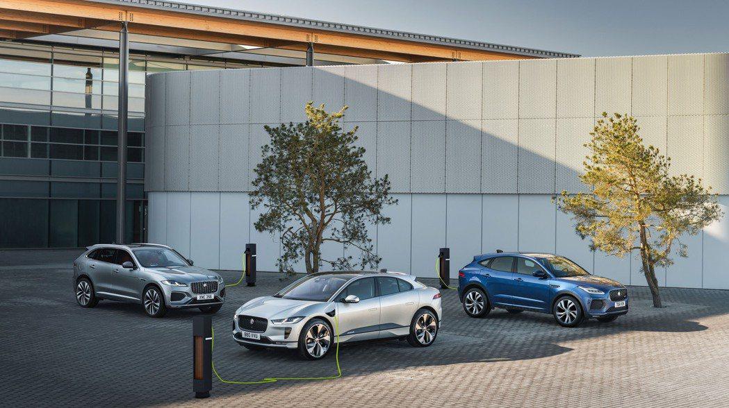 Jaguar全新的Pace休旅家族,包括純電I-Pace,還有插電版本的F-Pa...