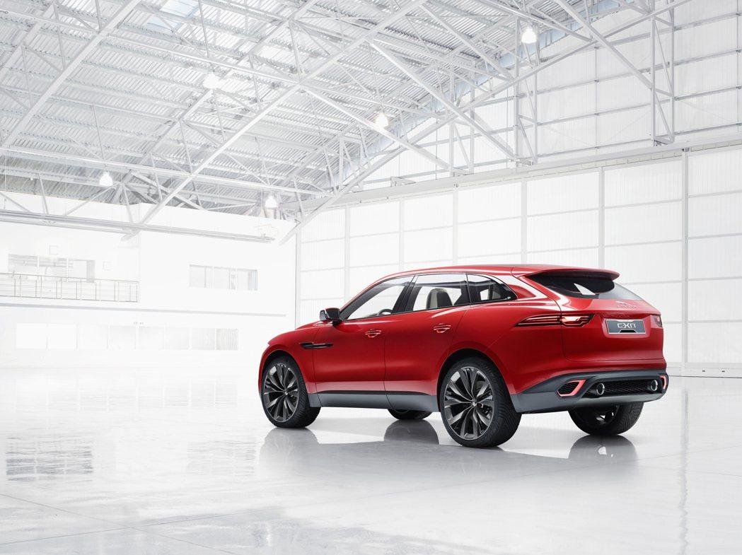 圖為2014年登場的Jaguar C-X17 Concept概念車。 摘自Jag...