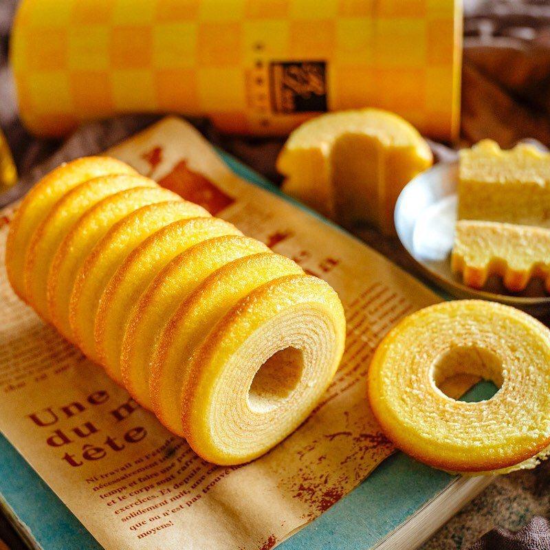 亞典菓子工場年輪蛋糕。 圖/亞典菓子工場