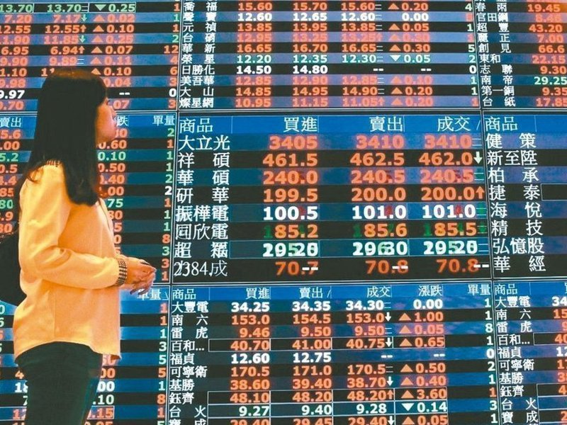 股市示意圖。報系資料照