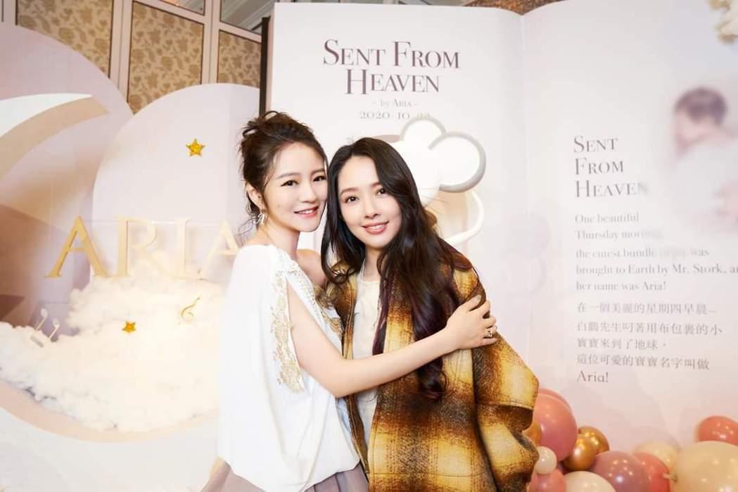 安以軒(左)與郭碧婷。圖/摘自臉書