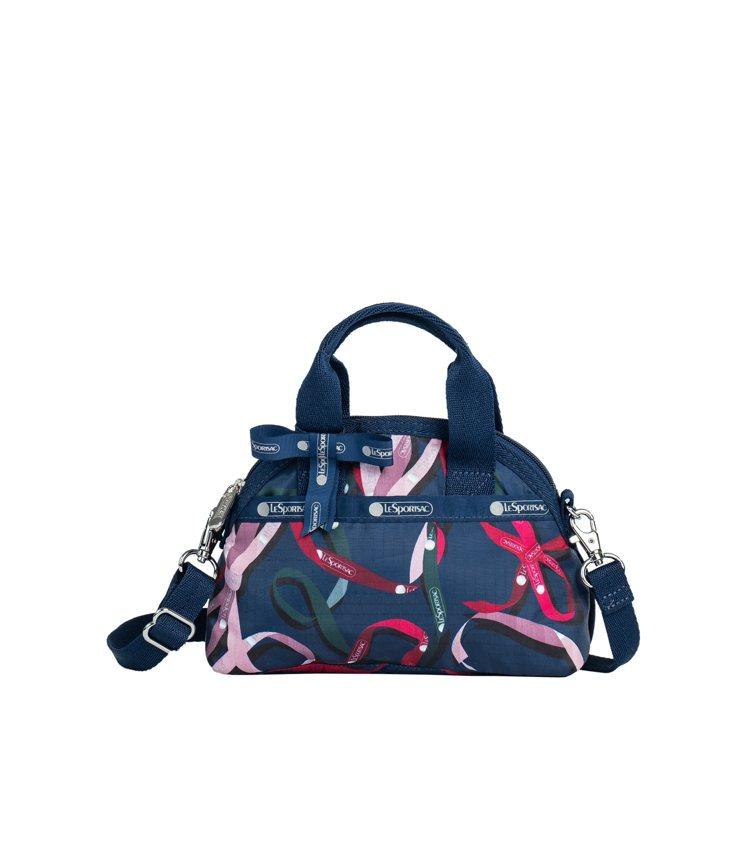 海藍驚喜迷你緞帶手提包,2,750元。圖/LeSportsac提供
