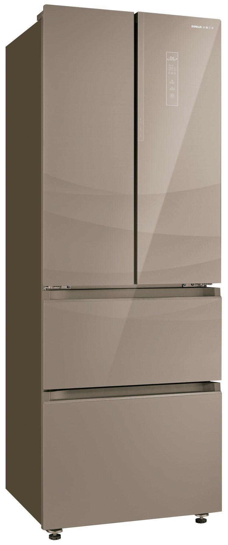 台灣三洋新推出312公升四門雙冷凍變頻電冰箱,以日式收納方式設計,上冷藏下冷凍、...