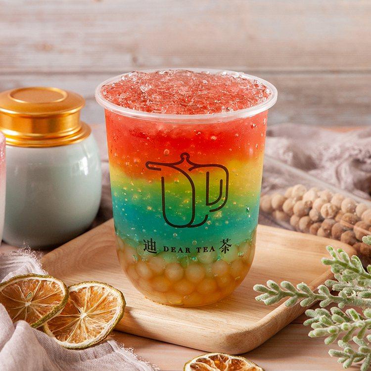 彩虹膠原蛋白晶球氣泡。圖/迪茶提供
