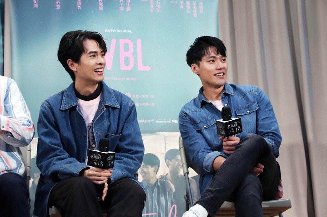張睿家(右)、石知田在「永遠的第一名」中特別演出。圖/WeTV、結果娛樂提供