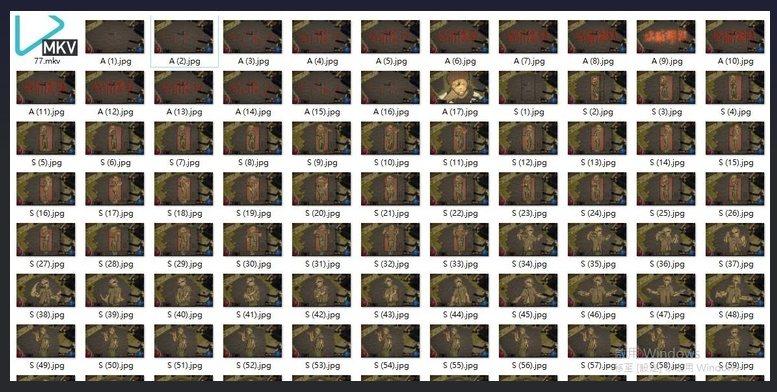 將藏身處的照片一張張擷取,素材將近 180 張。