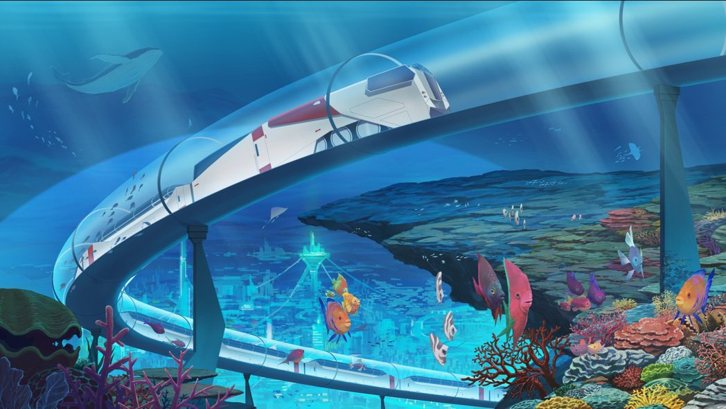 故事場景-曾作為時間旅行實驗的海底高速列車