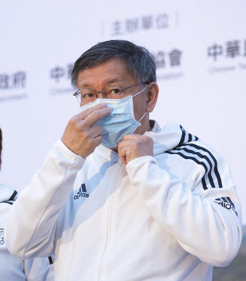 台北市長柯文哲。 聯合報系資料照/記者季相儒攝影