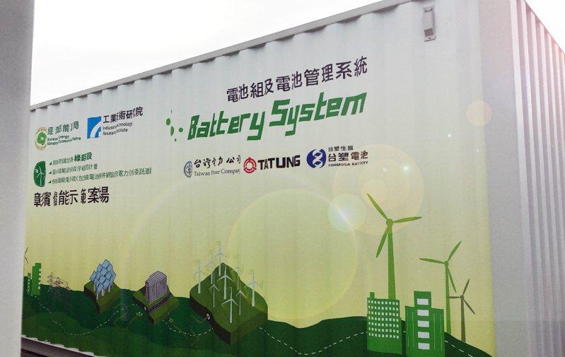 台塑生醫布局新能源,電網用「大功率鋰鐵儲能貨櫃」上線。(圖/台塑生醫提供)