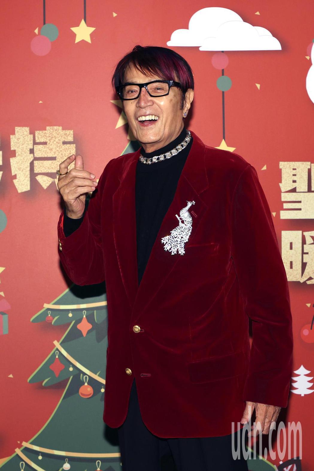 鑽石歌王林沖出席2020讓愛扶持聖誕送暖餐會。記者蘇健忠/攝影