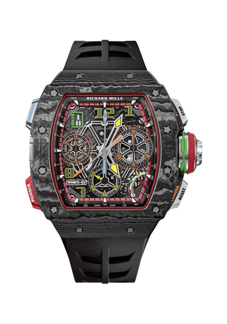 RICHARD MILLE RM 65-01追針計時碼表,Carbon TPT®...