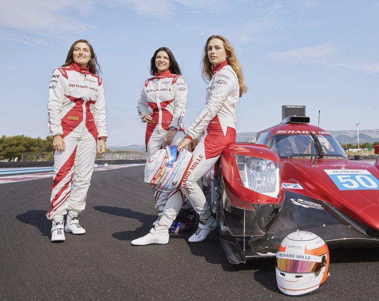 RICHARD MILLE的三位女性車手(由左至右)Tatiana Calder...