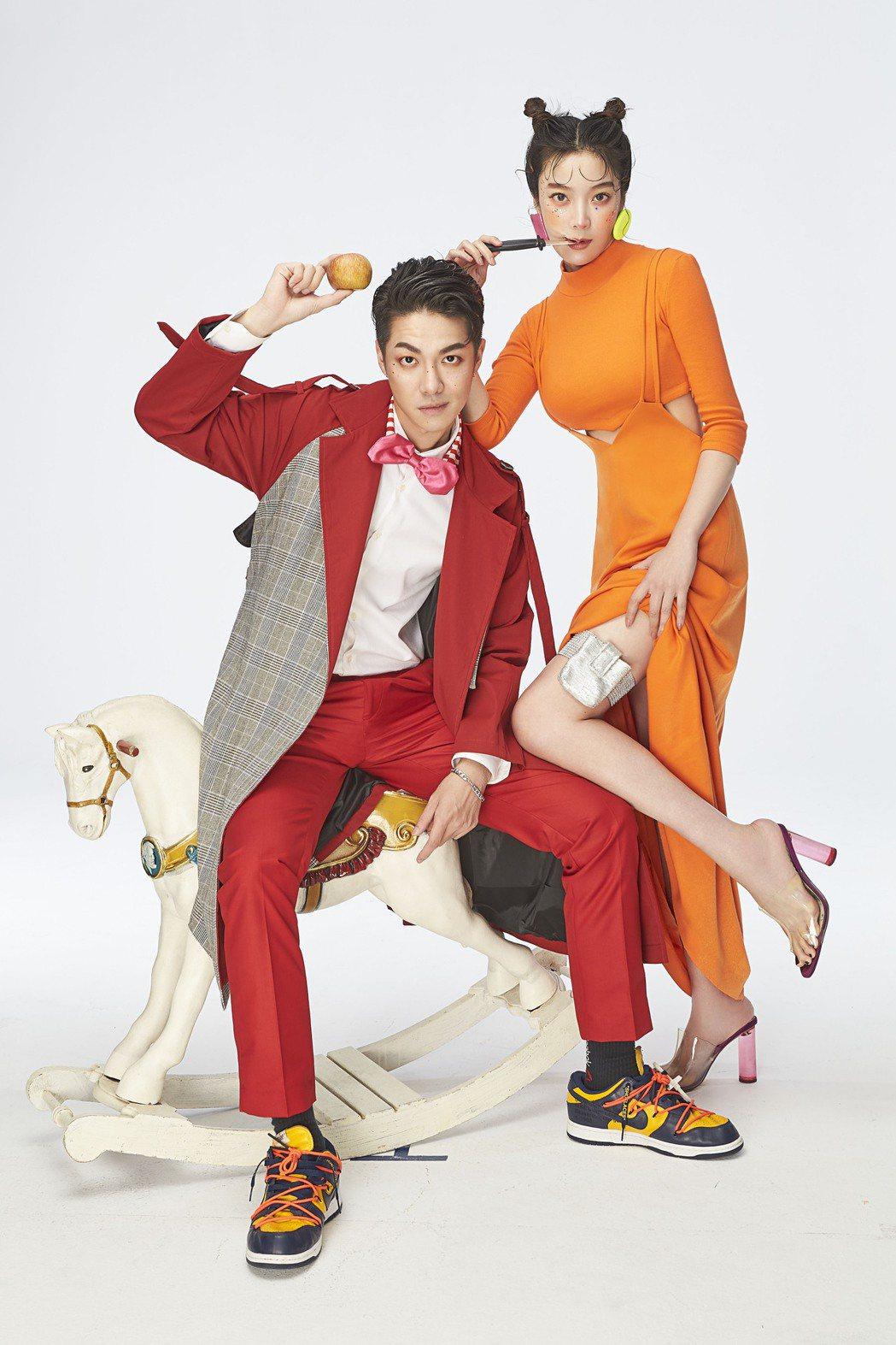 蔡淑臻(右)、陳信維明年都將投入新作。圖/伊林娛樂提供