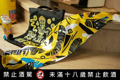 台灣麒麟KIRIN與原民潮牌聯名推出手工藝品。 圖/余松翰攝影