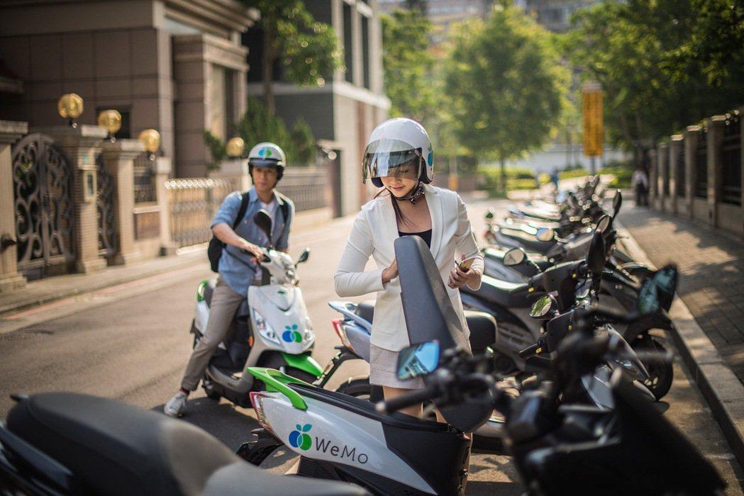 格上Go Smart攜手WeMo Scooter,4輪加2輪共享加倍服務。 圖/...