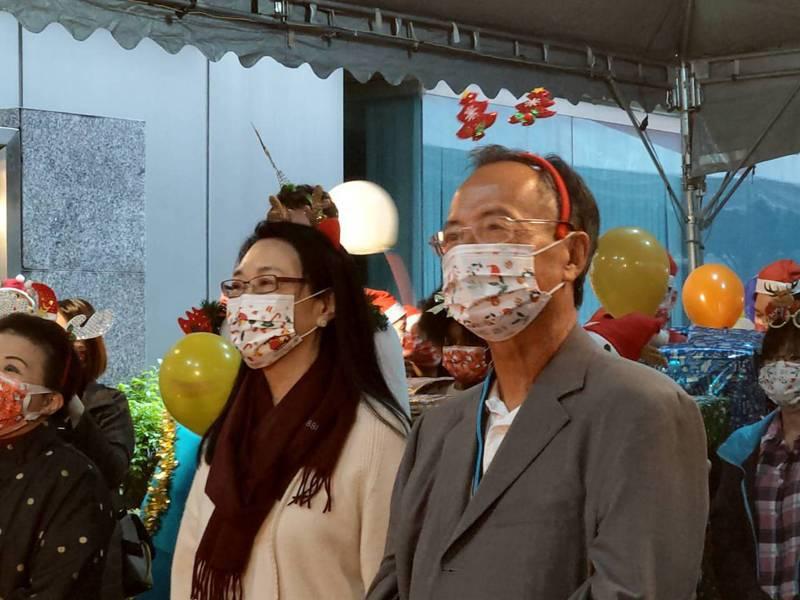 宏達電董事長王雪紅與威盛董事長陳文琦,24日連袂出席威盛的聖誕節活動。記者鐘惠玲/攝影