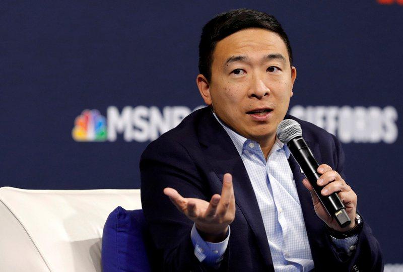 台裔美籍企業家楊安澤23日提交文件,參選紐約市長。路透