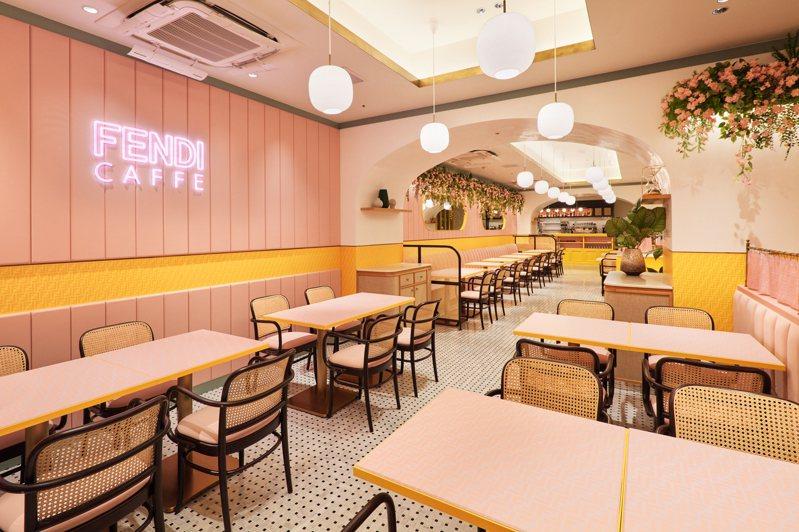 FENDI與東京Anniversaire Café Omotesando咖啡店推出期間聯名限定套餐。圖/FENDI提供