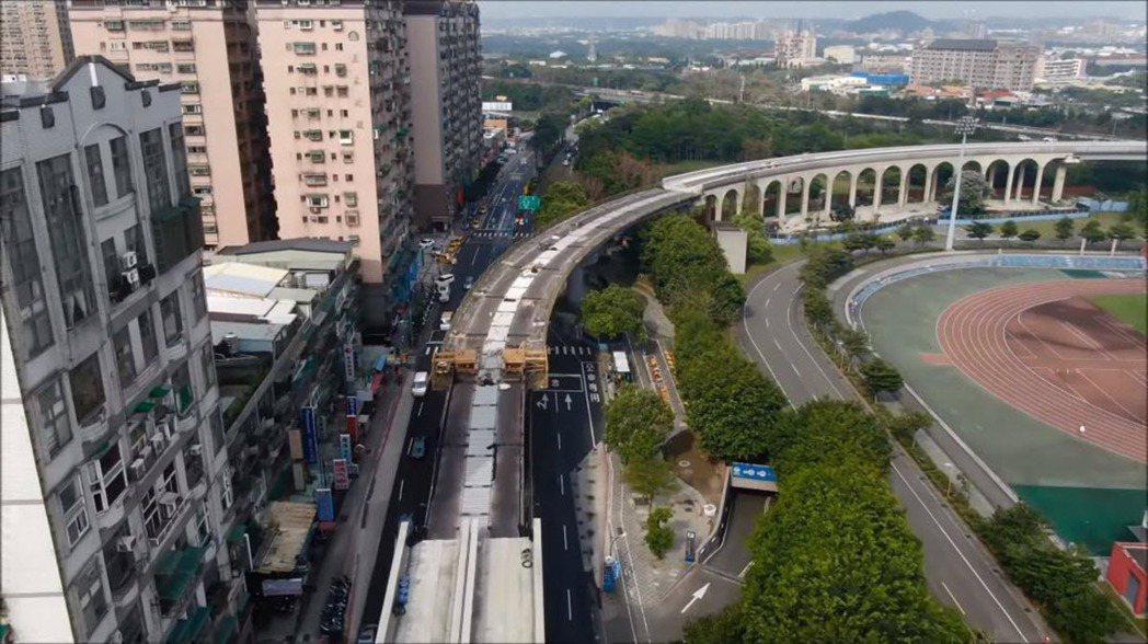 捷運三鶯線預計在2023年完工試車,未來三峽到台北通勤時間將能縮短20分鐘。 圖...