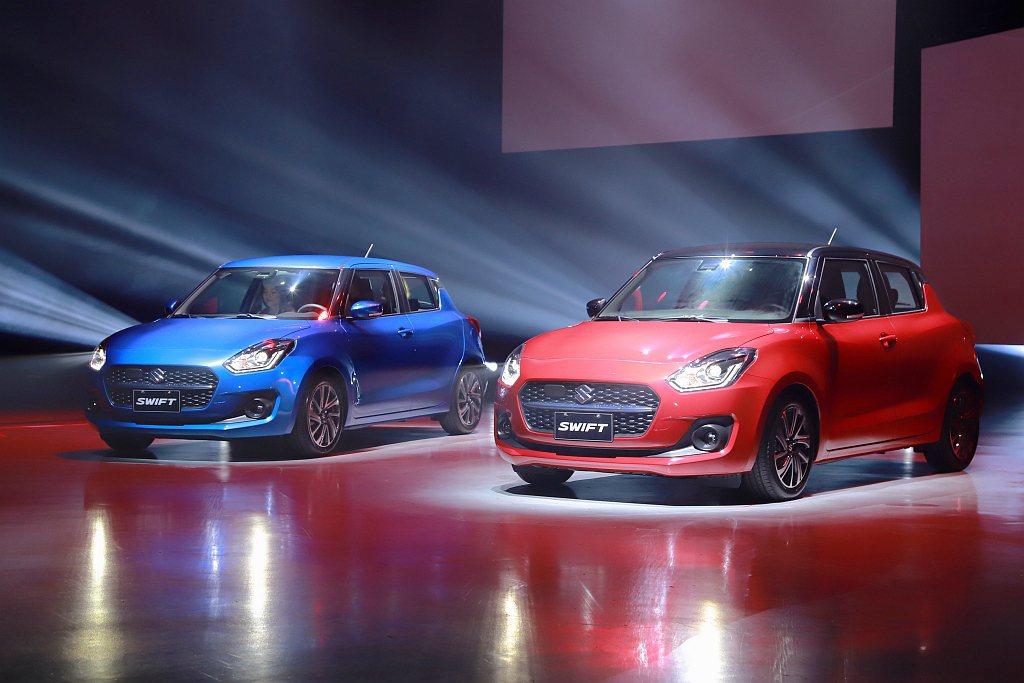 小改款Suzuki Swift極富動感的車體輪廓,搭配全新六角型鍍鉻水箱罩與懸浮...