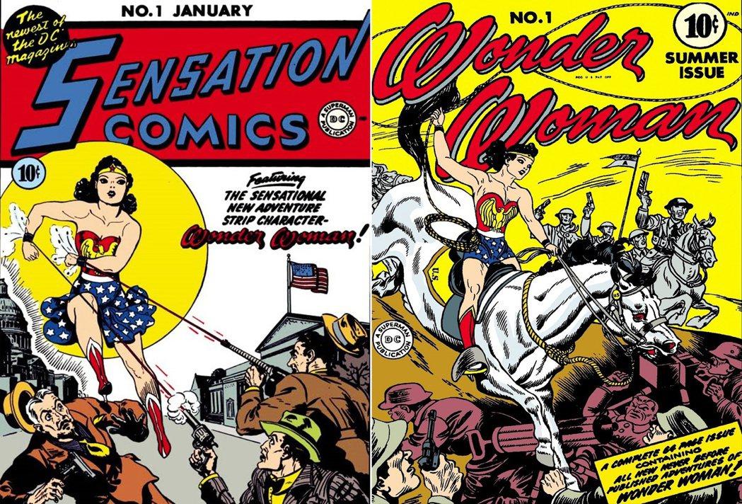1941年首次在美國漫畫中登場的神力女超人。