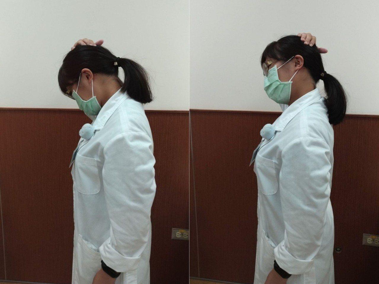 舒緩肩頸酸痛,中醫師建議可以先往左右斜前方傾斜45度做頸部伸展,再往兩側90度方...