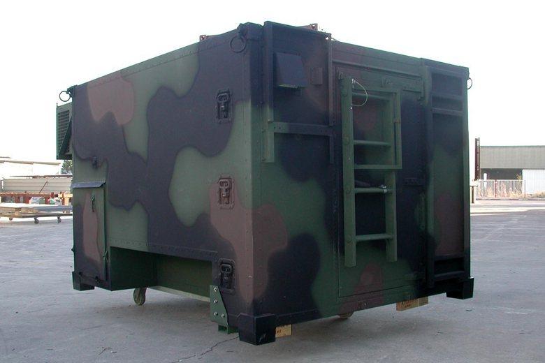 S-788 III型輕型多用途車廂LMS,除可放置悍馬車外,其體積也可放於C-130運輸機內做遠距離運輸。 圖/RAMIM公司官網