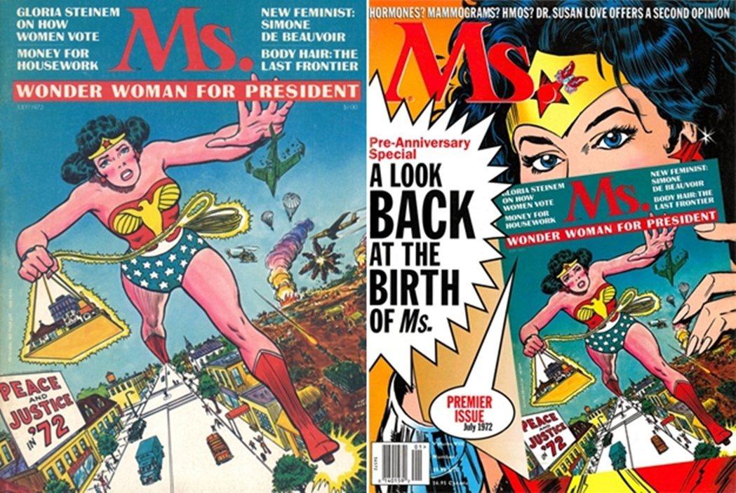 神力女超人在1972年,首度登上女性主義雜誌《仕女》(Ms.)的封面人物,當時上...