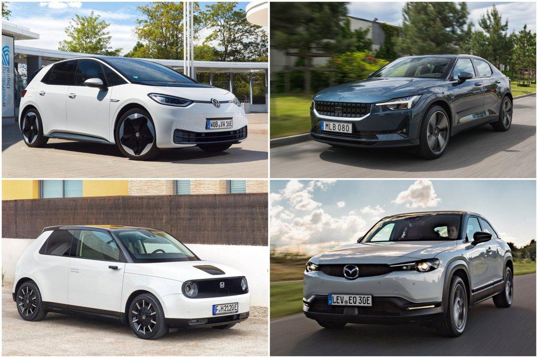Volkswagen ID.3、Polestar 2、Honda e、Mazda...