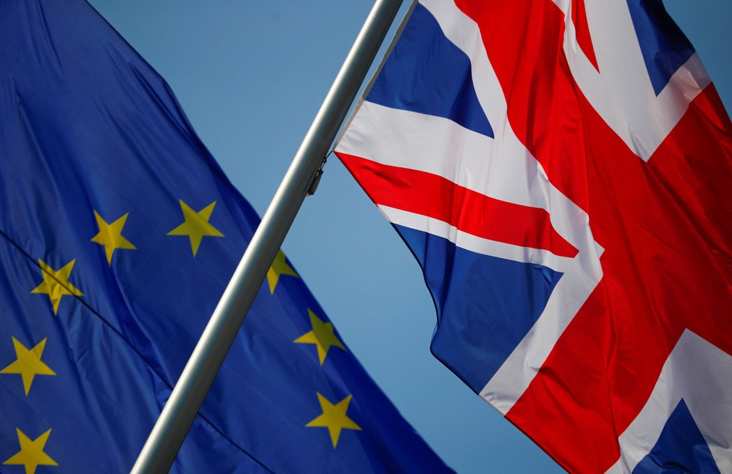英國與歐盟達成脫歐貿易協議。圖/路透