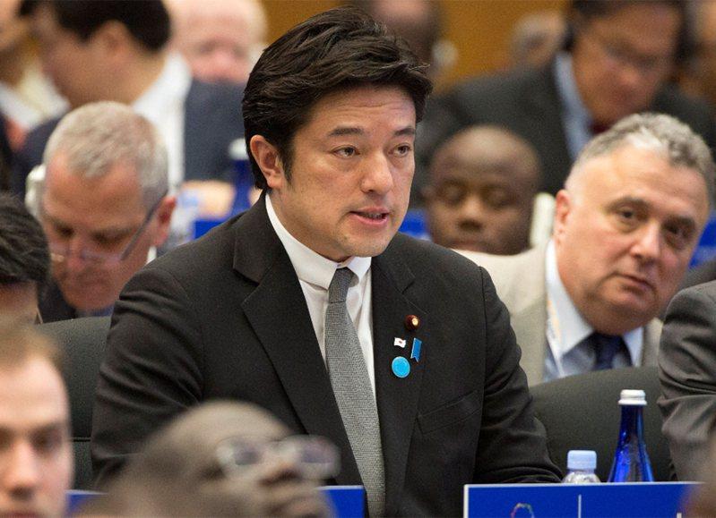 日本防卫副大臣中山泰秀。 路透(photo:UDN)
