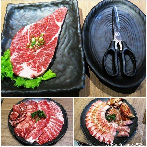 既然來到「燒肉神保町-高雄岡山館」那麼吃燒肉自然是重頭戲呀!一盤接著一盤肉品開吃!