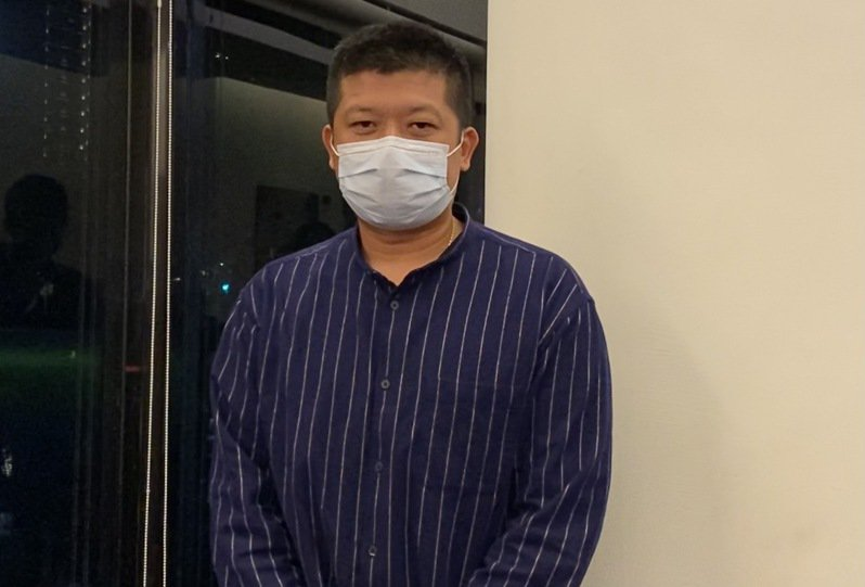 陳江和在爭議事件後出面受訪。記者陳宛晶/攝影