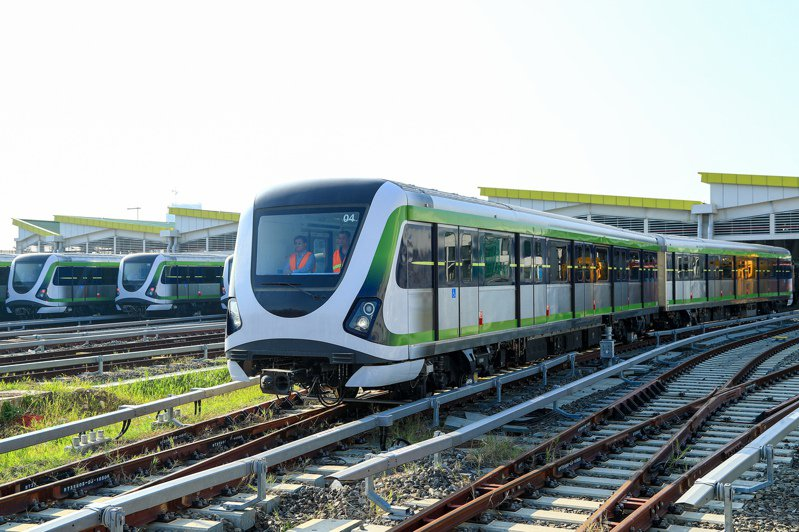 台中捷運去年因為電聯車軸心斷裂而暫停試營運。圖/台中市交通局提供