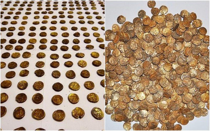 英国有名男子近日在赏鸟途中,偶然发现一大批约2000年历史的凯尔特人金币,总价值超过80万英镑(约新台币3017万),让他惊喜万分。Treasure Hunting(photo:UDN)