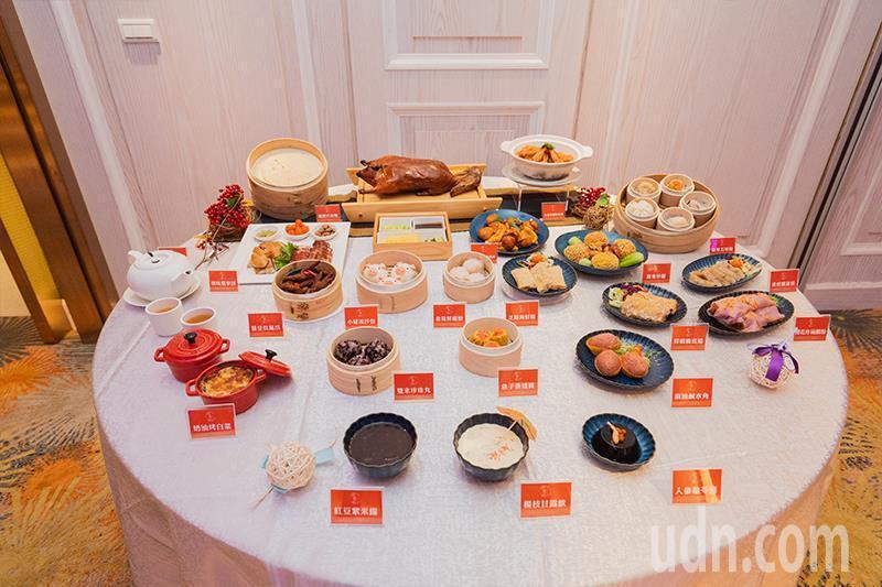 晶粵軒港式飲茶的招牌菜色。記者蔡維斌/攝影