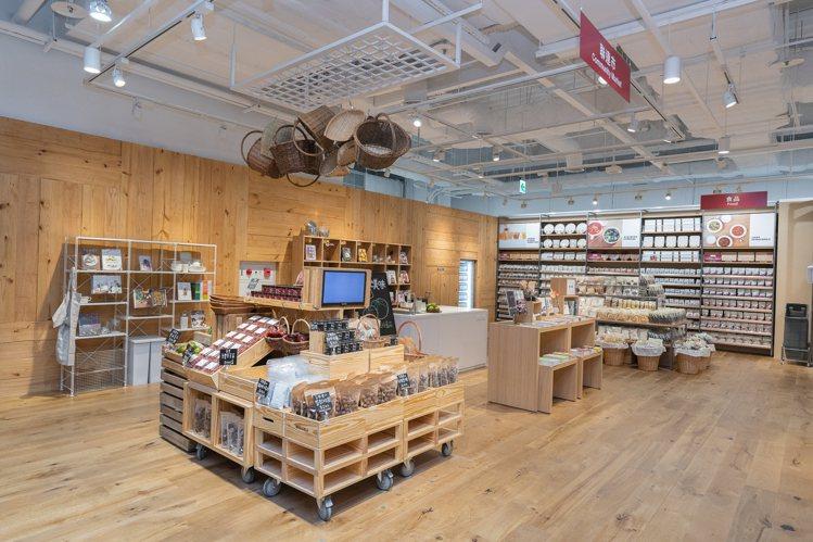 MUJI無印良品的南紡門市,首度導入「聯連市」概念,設置有開放式廚房。圖/MUJ...